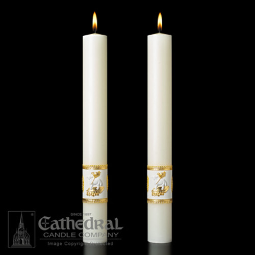 Ornamented Complementing Altar Candles