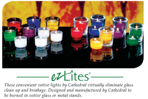 4 Hour EZ Lite Votives | 288 Candles | All Colors