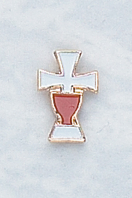 Enameled Cross First Communion Pin