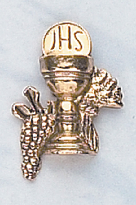 Gold-Tone Chalice First Communion Pin