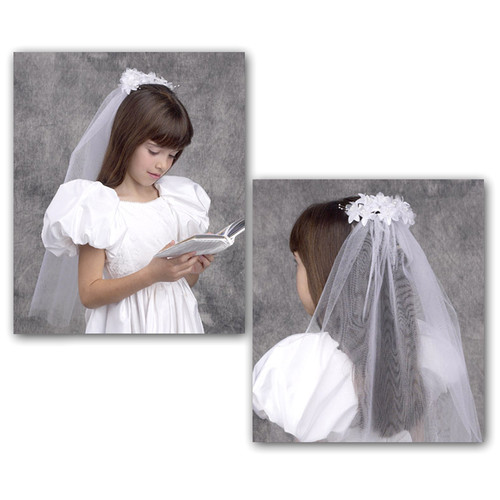 Floral Fantasy First Communion Veil