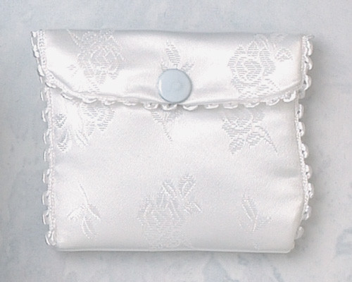 First Communion Satin Rosary Case