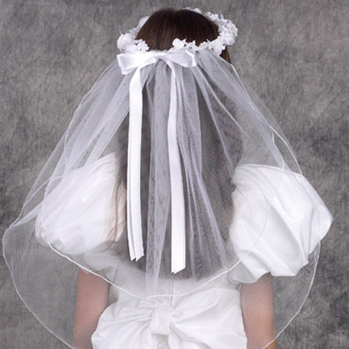 First Communion Ethereal Wreath Veil
