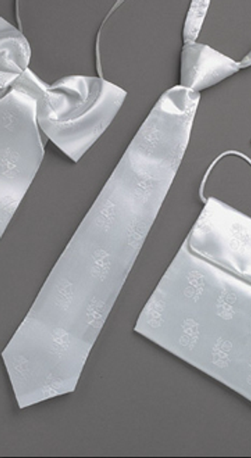 First Communion Satin White Tie
