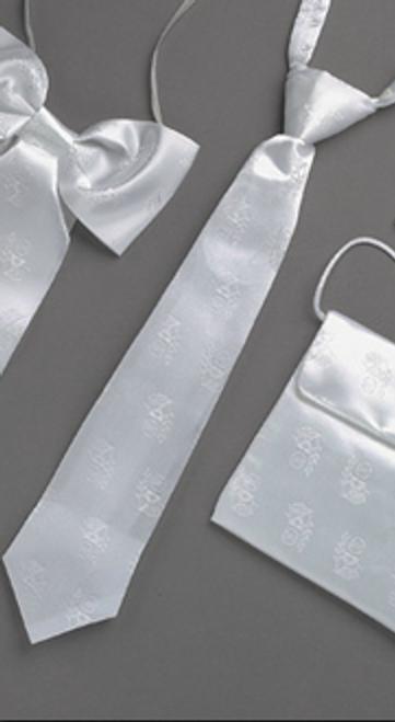 First Communion Satin White Tie