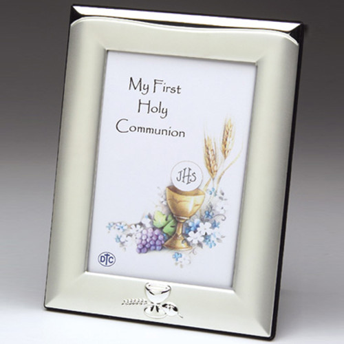 First Communion Silver-Plated Picture Frame - Personalized