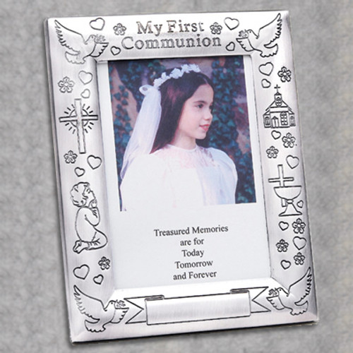 First Communion Silver-Plated Frame - Personalized