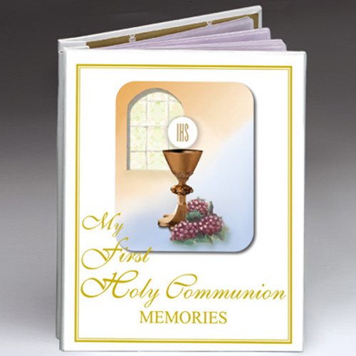 First Communion Photo Album w/ Certificate