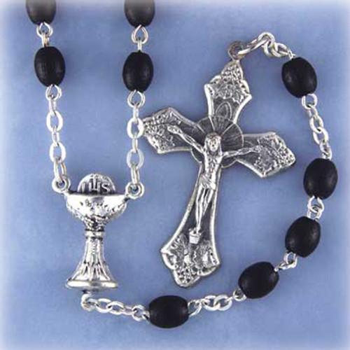 Polished Oval Wood Rosary