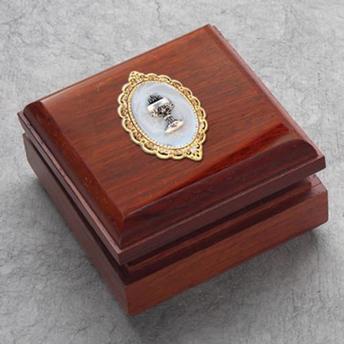 Redwood Keepsake Rosary Box