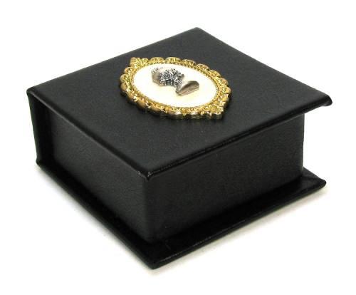 Black Leatherette Keepsake Rosary Box