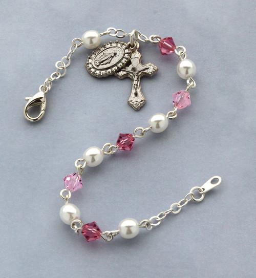 Bohemian Crystal & Pearl Bracelet