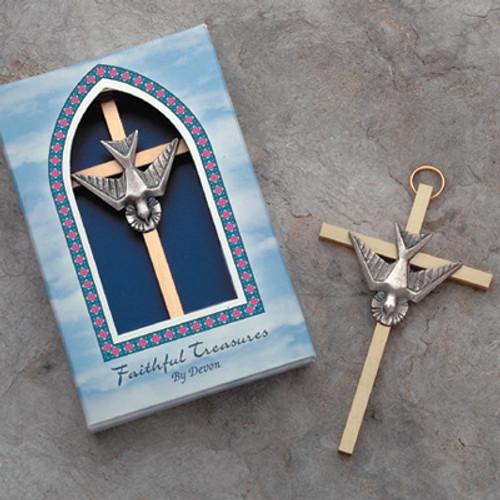 "4"" Brass Confirmation Cross"