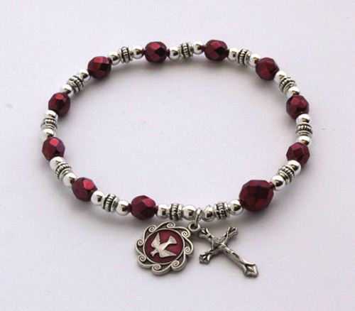 Shadow Bead Rosary Bracelet