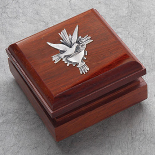 Rosewood Keepsake Rosary Box