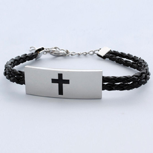 Stainless Steel Cross Bracelet