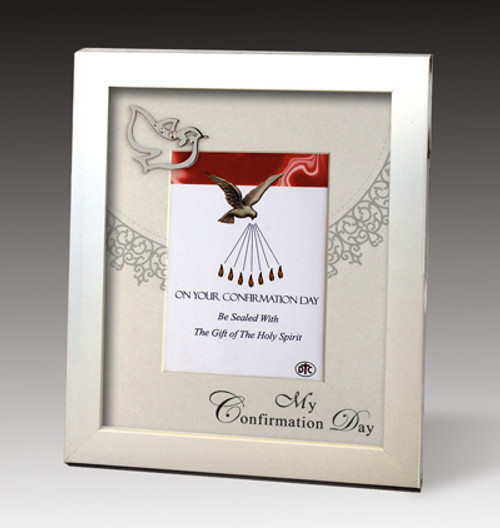 White Shadowbox Confirmation Frame