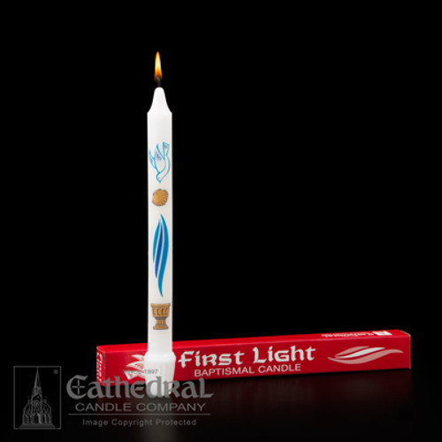 First Light Baptismal Candle