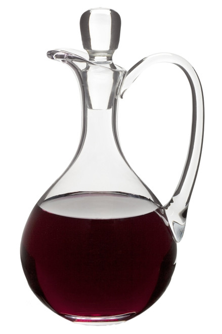 Glass Flagon w/ Handle - 40oz, 11""