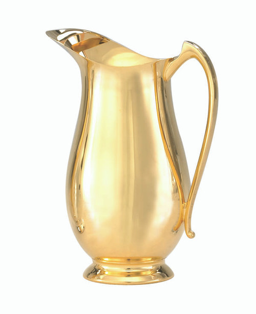 Gold Plated Open Mouth Flagon - 54oz, 10""