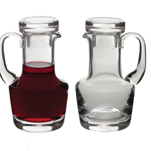 Glass Flat Top Cruet Set - 6oz, 5-1/2""