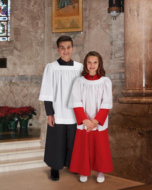 Altar Server Surplices | 3/4 Sleeve | Square & Round Neck