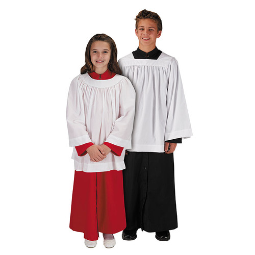 Altar Server Surplices | Long Sleeve | Square & Round Neck