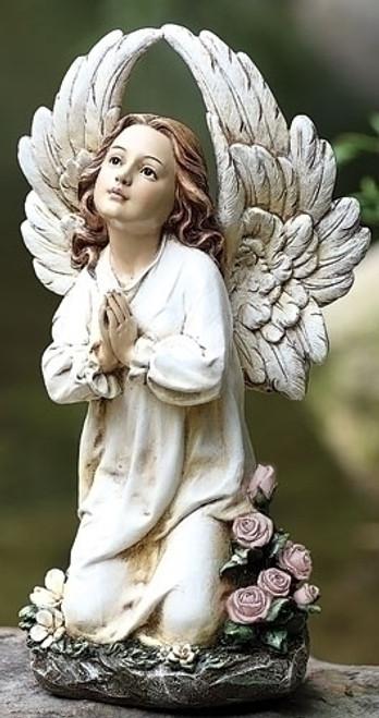 """16"""" Kneeling Angel Garden Statue"""