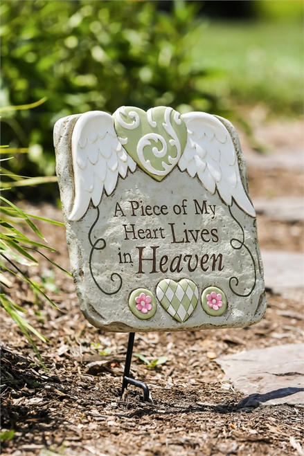 Heart In Heaven Garden Stone with Stand