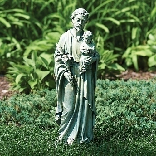 "20"" St. Joseph Garden Statue | Resin/Stone Mix"