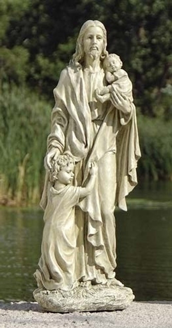 "24"" Jesus with Children Garden Statue 