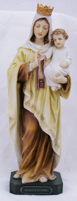 """10"""" Our Lady Of Mount Carmel Statue 