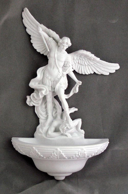 "9"" St. Michael Holy Water Font 