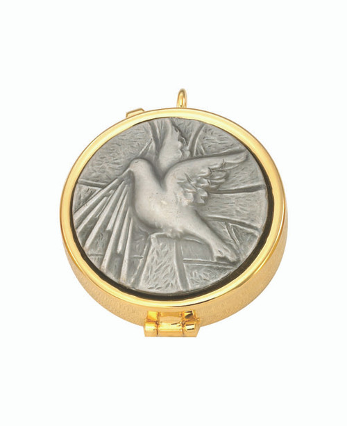 Dove Pyx | 24K Gold Plate | Holds 7 Hosts