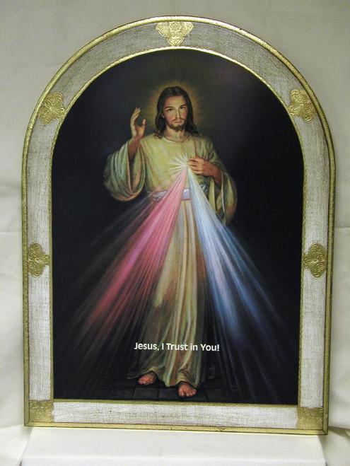 "31"" Divine Mercy Florentine Plaque - Made In Italy"