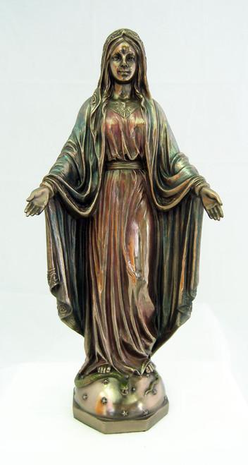 "10"" Our Lady Of Grace Statue | Cold-Cast Bronze"