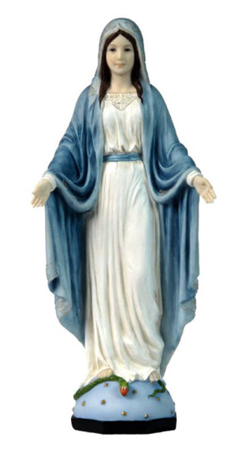 "10"" Our Lady Of Grace Statue 
