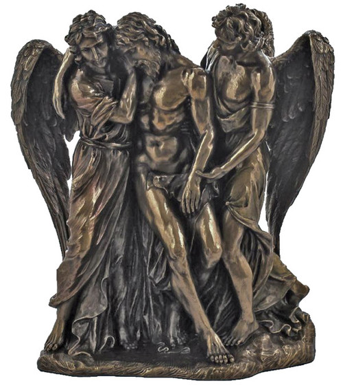 "10"" Dead Christ With Angels Statue 