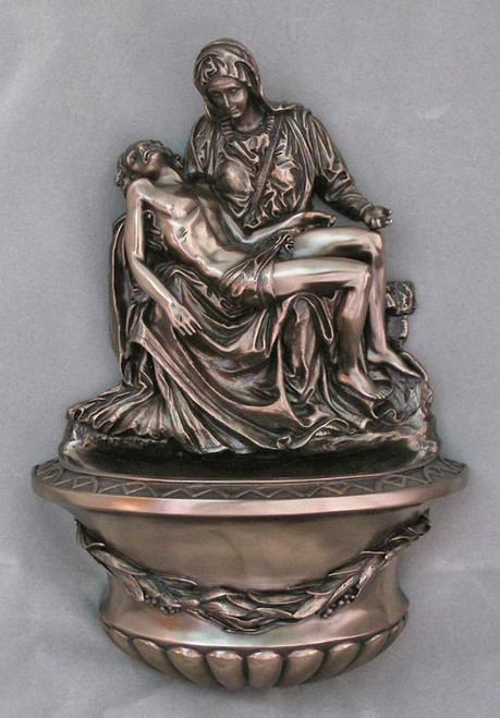 "10"" Pieta Holy Water Font 