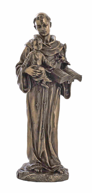 "10.5"" St. Anthony & Child Statue 