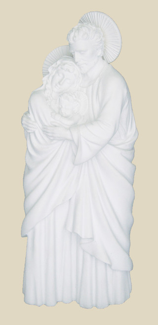 "10"" Holy Family Statue | White Resin"