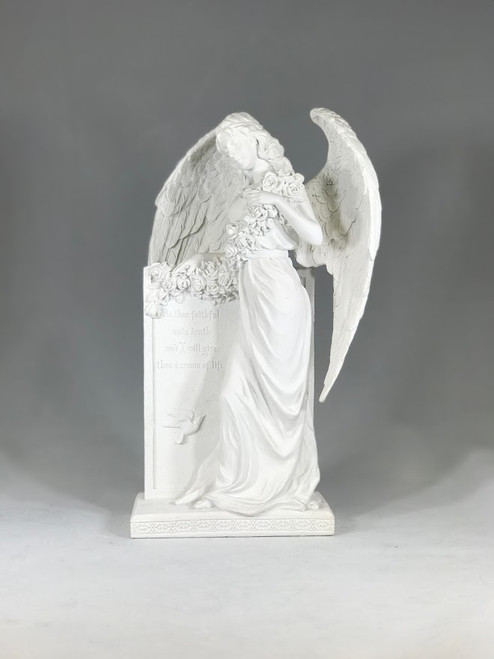 "10.5"" Sorrowful Standing Angel Statue 