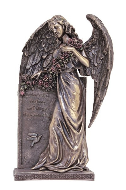 """10.5"""" Sorrowful Standing Angel Statue 