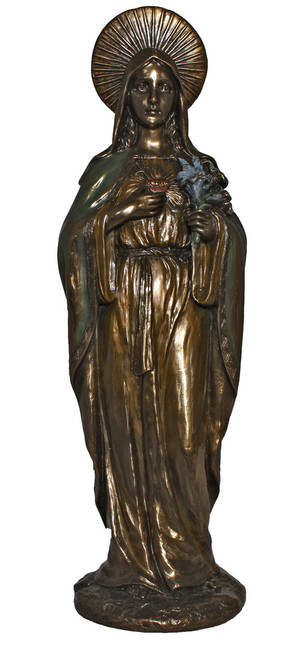 "11"" Immaculate Heart Of Mary Statue 