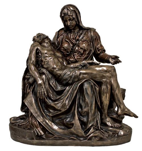 "Large 31"" Pieta Statue | Cold Cast Bronze"