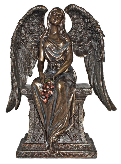 "11"" Mourning Tomb Angel Statue 