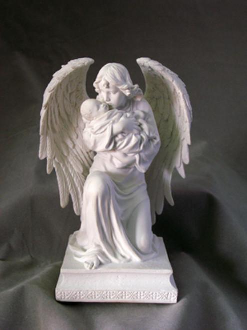 7 Guardian Angel Child Statue White Resin Holy Land Art
