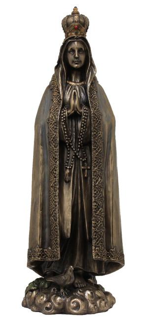 "10"" Our Lady of Fatima Statue | Cold-Cast Bronze"