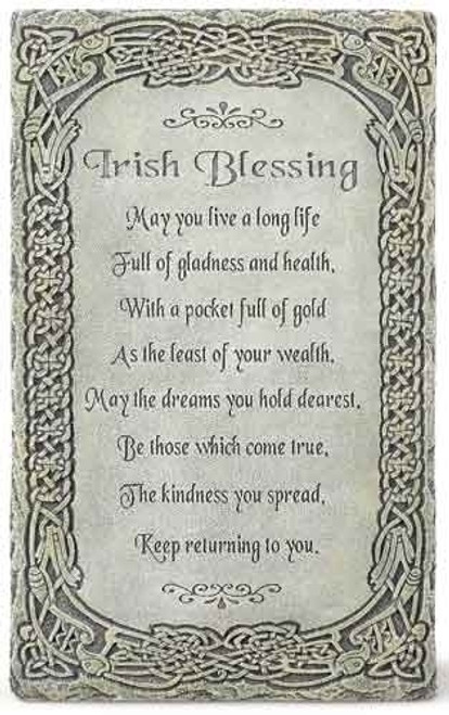 "8"" Irish Blessing Wall Plaque"