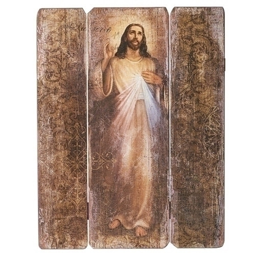 "26"" Divine Mercy Wood Pallet Decorative Panel"